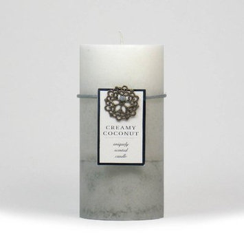 Highland Dunes Ocean Mist Scented Pillar Candle Color: White, Size: 3