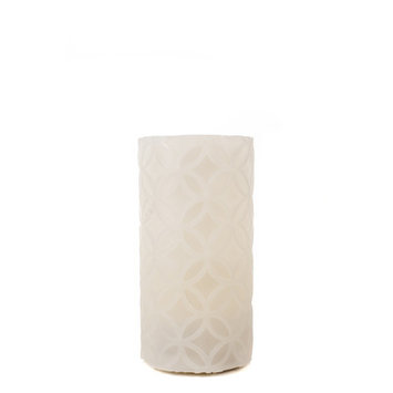 Theamazingflamelesscandle Carved Series Flameless Pillar Candle, 6