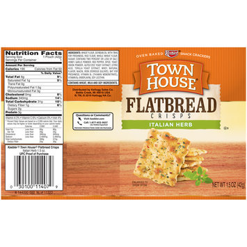 Keebler® Town House® Flatbread Crisps Italian Herb 1.5 oz. Wrapper