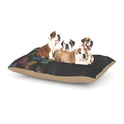 East Urban Home Snap Studio 'Butterflies' Pastel Chalk Dog Pillow with Fleece Cozy Top Size: Large (50