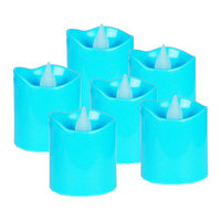 Cysexcel CYS LED-12 Battery-powered Flameless LED Votive Candles, Pack of 12 pcs - Blue Case