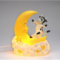 Cosmosgifts Cow Jump Over the Moon Night Light