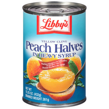 Libby's® Yellow Cling Peach Halves in Heavy Syrup 15.25 oz. Can