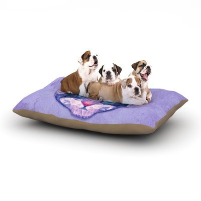 East Urban Home Ancello 'Cute Kitten' Cat Dog Pillow with Fleece Cozy Top Size: Large (50