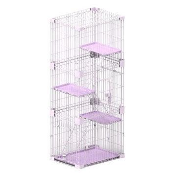 PetPals Pink Three Levels Cat Cage