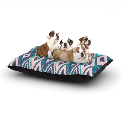 East Urban Home Nika Martinez 'Tribal Ikat' Dog Pillow with Fleece Cozy Top Size: Small (40