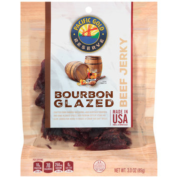 Pacific Gold® Reserve Bourbon Glazed Beef Jerky 3.0 oz. Bag