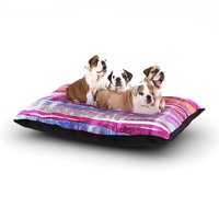 East Urban Home Frederic Levy-Hadida 'Fancy Stripes' Dog Pillow with Fleece Cozy Top Size: Small (40