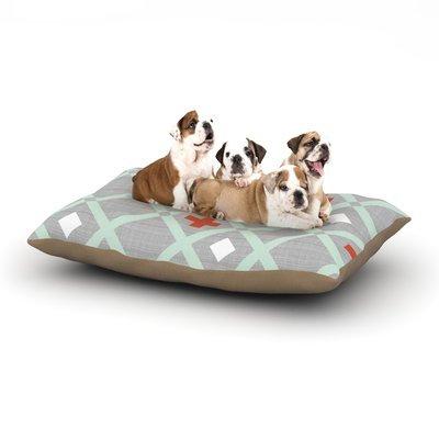 East Urban Home Pellerina Design 'Mint Lattice Weave' Dog Pillow with Fleece Cozy Top Size: Large (50