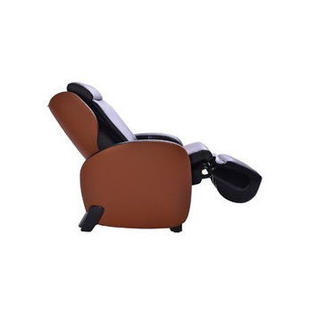 Latitude Run Massage Chair with Footrest Upholstery: Black/Toffee