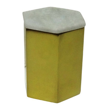 Bidkhome Hexagon Designer Candle Size: Small