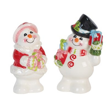 Fitz And Floyd Flurry Folk Salt and Pepper Set