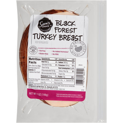 Sam's Choice™ Black Forest Turkey Breast 7 oz. Package