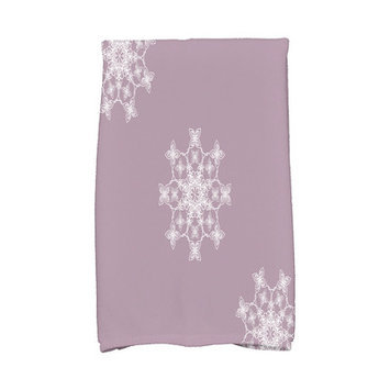 House Of Hampton Holiday Wishes Falling Snow Hand Towel Color: Lavender