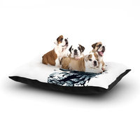 East Urban Home Graham Curran 'The Blanket' Dog Pillow with Fleece Cozy Top Color: White, Size: Large (50