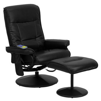 Red Barrel Studio Heated Reclining Massage Chair & Ottoman