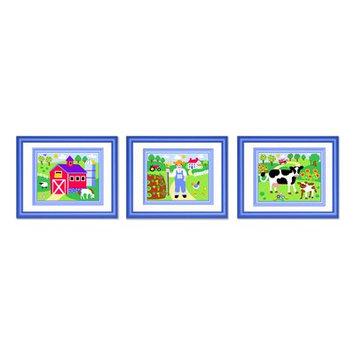 Olive Kids Country Farm Framed Print Set
