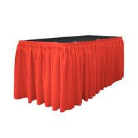 La Linen Table Skirt Color: Coral