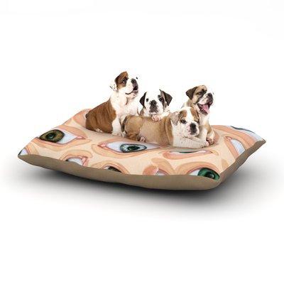 East Urban Home Alisa Drukman 'Eyes' Eyeballs Dog Pillow with Fleece Cozy Top Size: Small (40