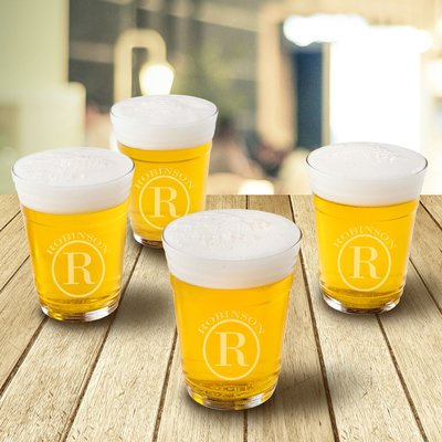 Jds Personalized Gifts Personalized 16 oz. Glass Beer Glass Design: Circle