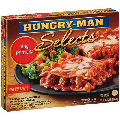 Hungry-Man® Selects Lasagna Flavored with Meatballs 16 oz. Box