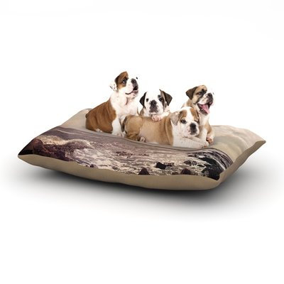 East Urban Home Debbra Obertanec 'Rocky Coast' Sea View Dog Pillow with Fleece Cozy Top Size: Large (50