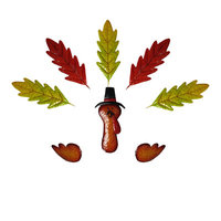 Alpine Metal Pumpkin Leaf Turkey Kit (Pumpkin Not Included)
