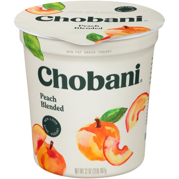 Chobani® Peach Blended Non-Fat Greek Yogurt 32 oz. Tub