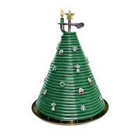 Candle By The Hour Christmas Tree Beeswax Candle, Green