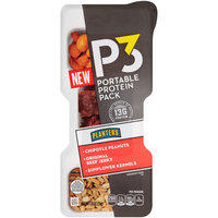 P3 Chipotle Peanuts, Original Beef Jerky & Sunflower Kernels Portable Protein Pack 1.8 oz. Tray
