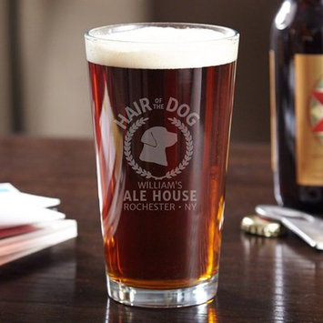 Home Wet Bar Hair of the Dog Personalized 16 oz. Glass Pint Glass