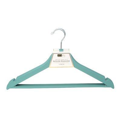 Rebrilliant Deluxe Non-Slip Roller Hanger Color: Dusty Blue