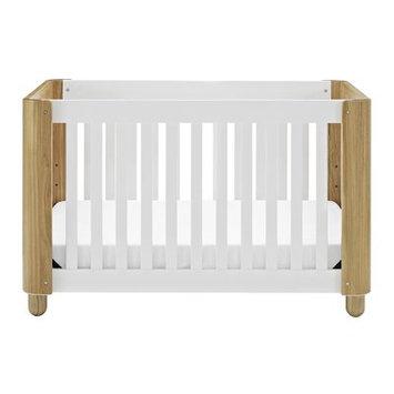 Storkcraft Status Roland 3-in-1 Convertible Crib, White/Natural