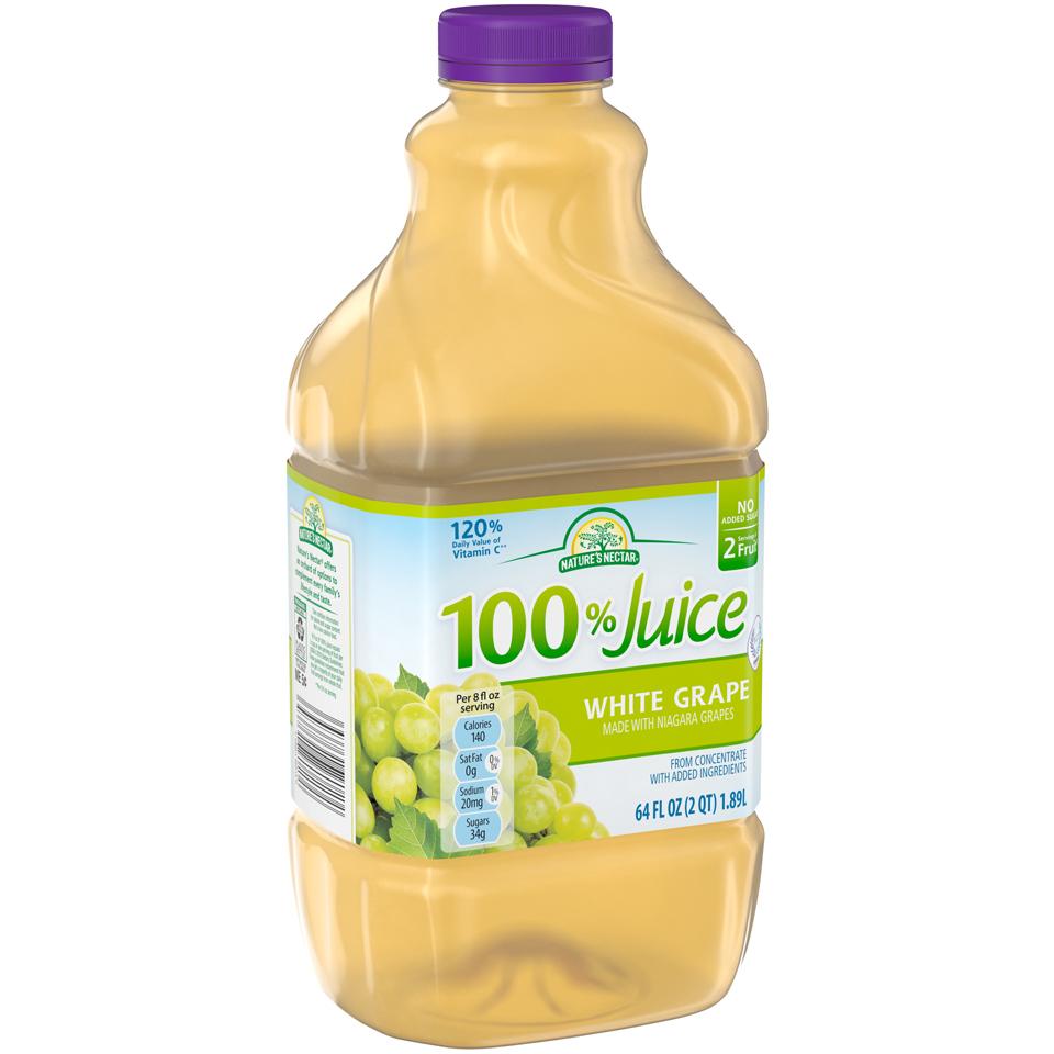 Nature's Nectar® 100% White Grape Juice 64 fl. oz. Bottle