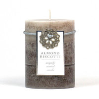 Highland Dunes Ocean Mist Scented Pillar Candle Color: Gray, Size: 3