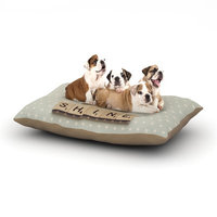 East Urban Home Cristina Mitchell 'Rise and Shine' Dog Pillow with Fleece Cozy Top Size: Large (50