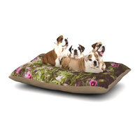 East Urban Home Ann Barnes 'Lush' Dog Pillow with Fleece Cozy Top Size: Large (50