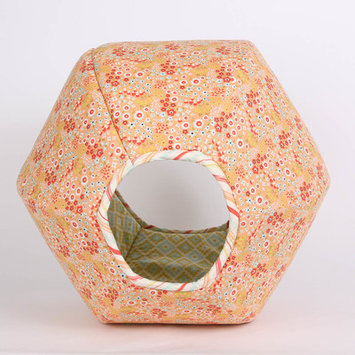 Thecatball Floral Geometric Pet Bed