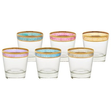 Lorren Home Trends Melania Double Old Fashion 10 Oz. Glass Cocktail Glasses