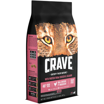 Crave™ with Protein from Chicken & Salmon Indoor Cat Food 32 oz. Bag