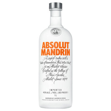 Absolut Vodka Sweden Mandrin 1L Bottle