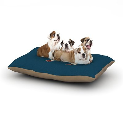 East Urban Home Bri Buckley 'Chien' Dog Pillow with Fleece Cozy Top Size: Large (50