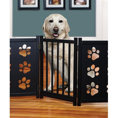 Imperial Home Freestanding Wood Dog Gate