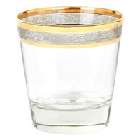 Lorren Home Trends Melania Double Old Fashion 10 Oz. Glass Cocktail Glasses Color: Smoke