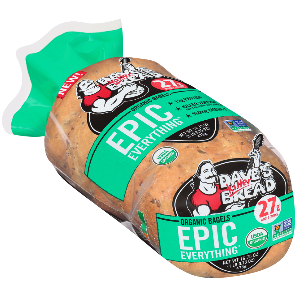Dave's Killer Bread® Epic Everything™ Organic Bagels 16.75 oz. Bag