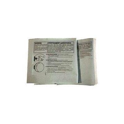 SHOP VAC 9066200 Bag, Non-reusable,10 to 14 gal, PK3
