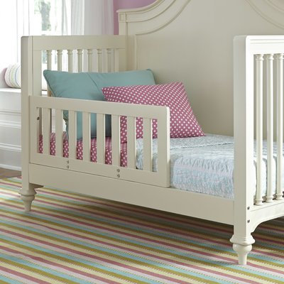 Harriet Bee Chassidy White Toddler Bed Rail