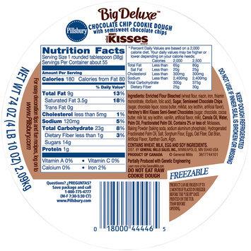 Pillsbury Big Deluxe™ Chocolate Chip Cookie Dough 74 oz. Tub