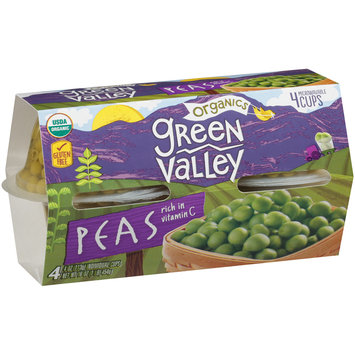 Green Valley Organics Peas 4-4 oz. Cups