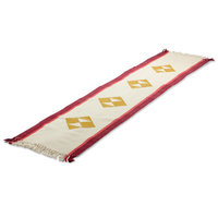 Novica Cherry Orchard Path Cotton Table Runner